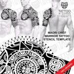 Maori Chief Warrior Tattoo Template
