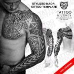 Stylized Maori Warrior Tattoo