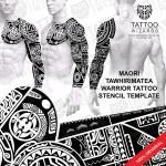 Maori Tawhirimatea Warrior Tattoo Template