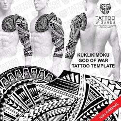 Kuklikimoku God of War Tattoo Stencil Template