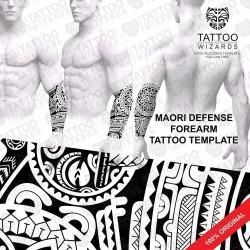 Maori Defense Forearm Tattoo Stencil Template