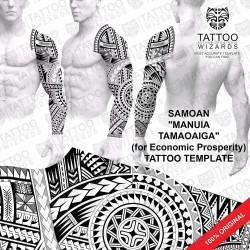 Manuia Tamaoaiga (for Econoimic Prosperity) Tattoo Stencil Template