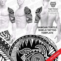 Samoan Turtle Shield Tattoo