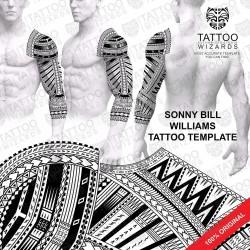 Sonny Bill Williams Tattoo Stencil Template Design