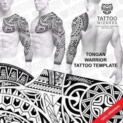 Tongan Warrior Tattoo Stencil Template