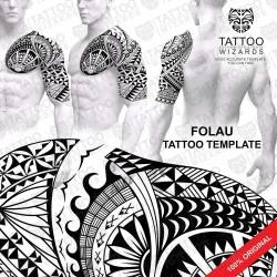 FOLAU Samoan Tattoo Stencil Template