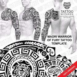 Maori Warrior of Fury Tattoo