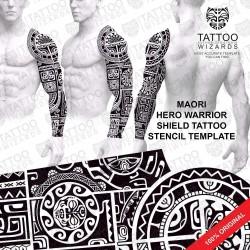 Maori Hero Warrior Tattoo Template