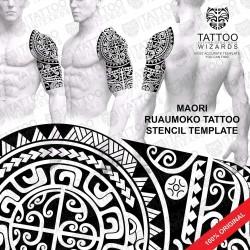 Ruaumoko Tattoo Stencil Template