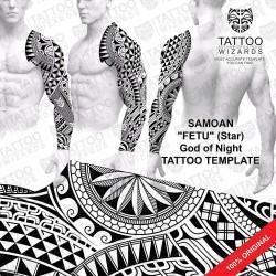 Samoan Fetu Tattoo Stencil Template