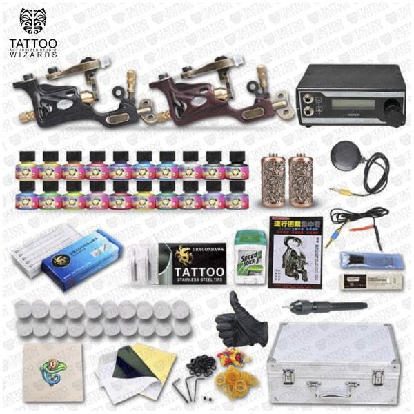 2 Rotary Tattoo Machines Professional Custom Tattoo Kit Tattoo Wizards