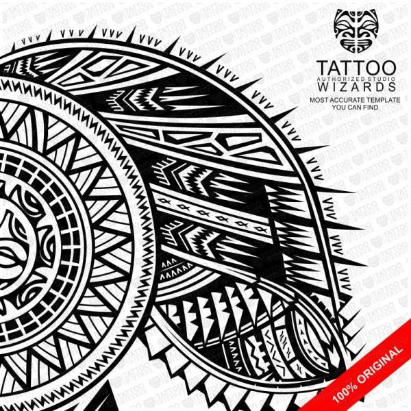 Samoan Warrior Sun Tattoo