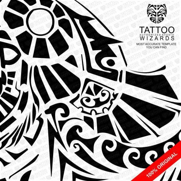 Maori Lion Vector Tattoo Template Stencil