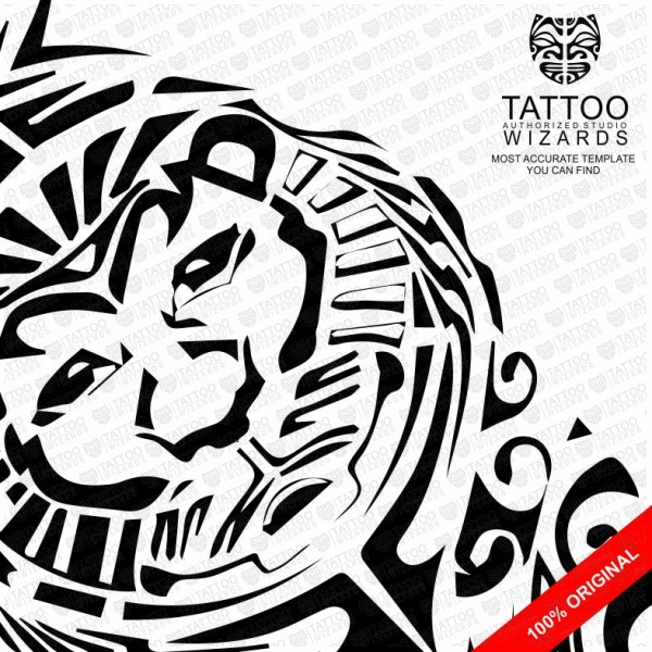 Maori Lion Vector Tattoo Template Stencil Tattoo Wizards