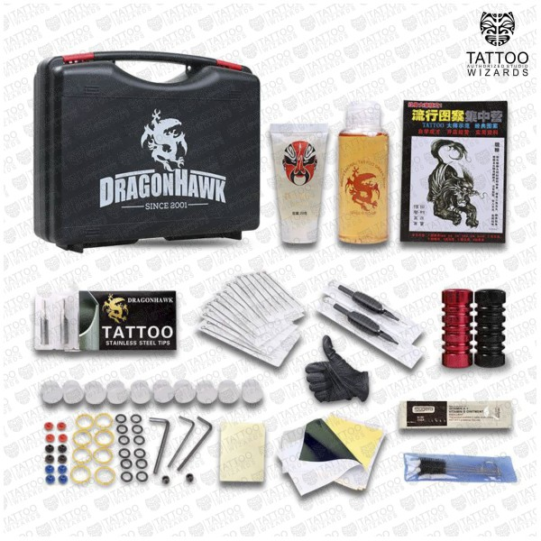 2 tattoo machine tattoo kit 2 tattoo wizards for Best tattoo starter kit