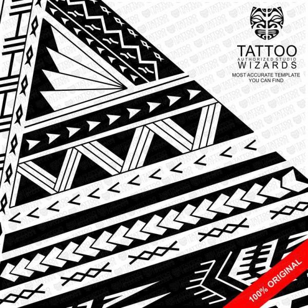samoan archer warrior vector tattoo template stencil