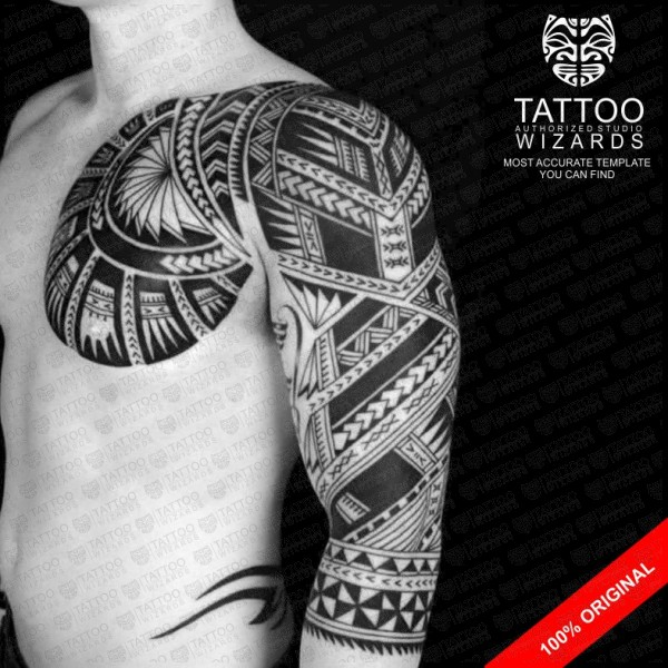 samoan archer warrior vector tattoo template stencil tattoo wizards. Black Bedroom Furniture Sets. Home Design Ideas
